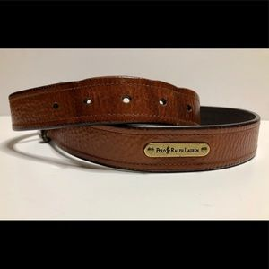 Men's Polo Ralph Lauren Brown Leather Belt-32